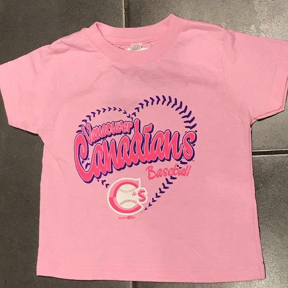 Vancouver Canadians Toddler T Shirt Pink