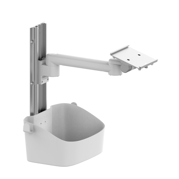 Rotated wall mount for patient monitor