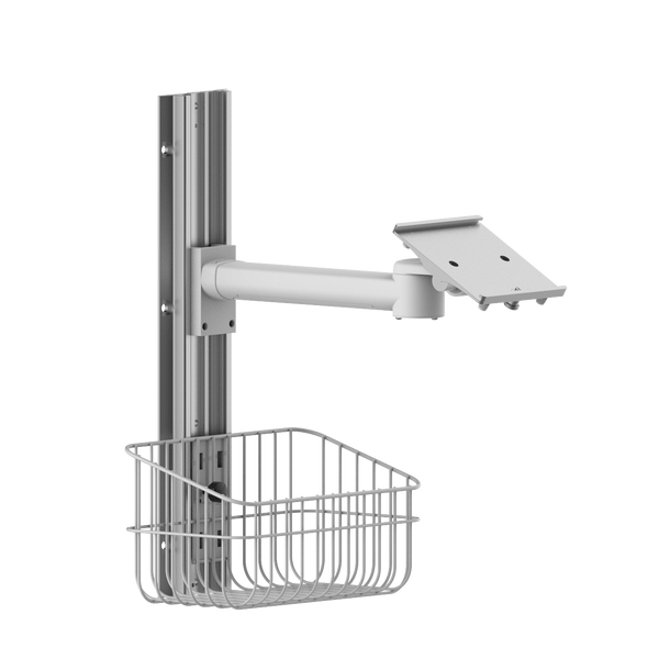 Wall mount for patient monitor with basket WM001E-100
