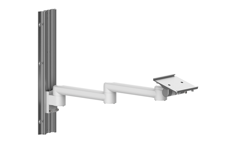 Double rotated wall mount for patient monitor WM500-200