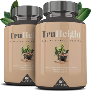 2 Bottles-Height Growth Formula: Supplement for Natural Bone Growth