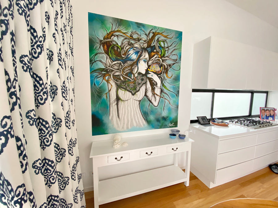 ANGELFISH GIRL - Wall Mural Art