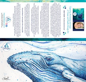 Blue Whale (blank inside) Greeting Card