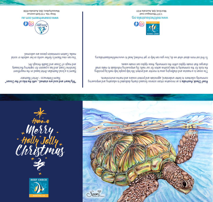 Reef Check Australia - Set 4 (blank inside) Greeting Cards