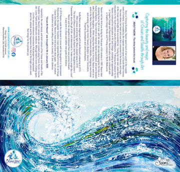 Rolling Blue Wave (blank inside) Greeting Card