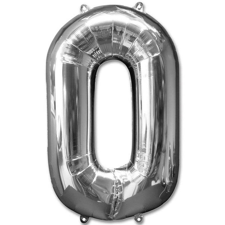 0 Number Giant Silver Balloon â 30 Inch