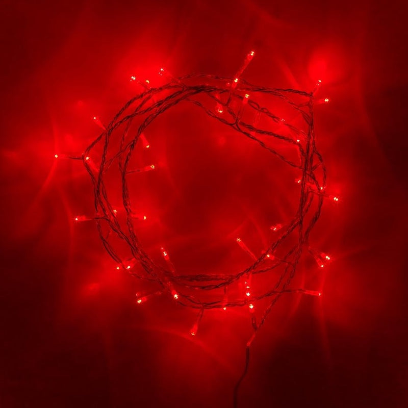 30 Red Led White Battery Operated Fairy Lights