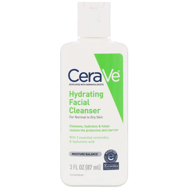 CeraVe - Hydrating Facial Cleanser, For Normal to Dry Skin, 3 fl oz (87 ml)