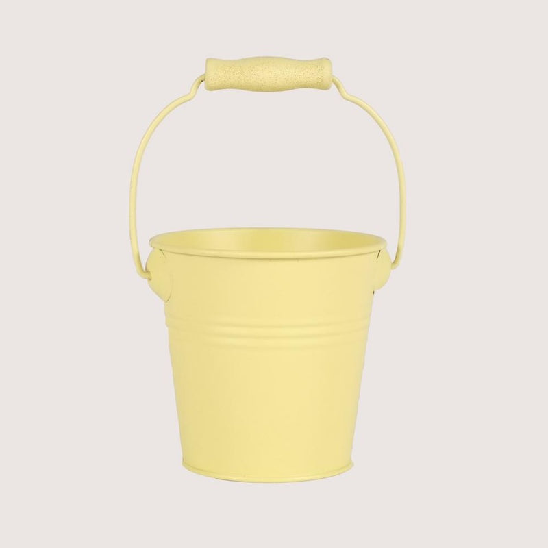 Metal Favors Bucket - Yellow - Pack Of 4