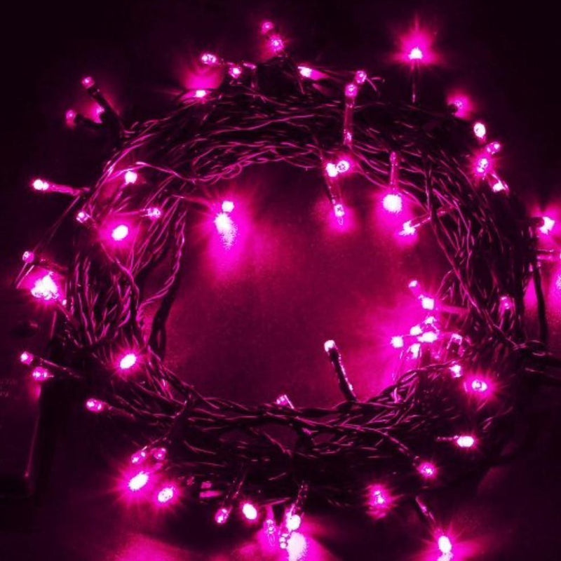 Led Battery Operated Fairy String Lights In Pink (3.5 M Long String)