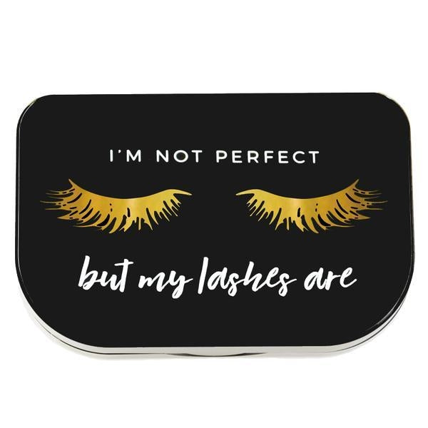 "Lilly Lashes ""I'M Not Perfect"" Lash Storage Case"