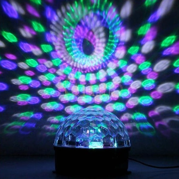 Disco Crystal Ball Projector With Speaker - Rechargable