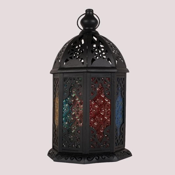 Big Black Colored Doors Lantern