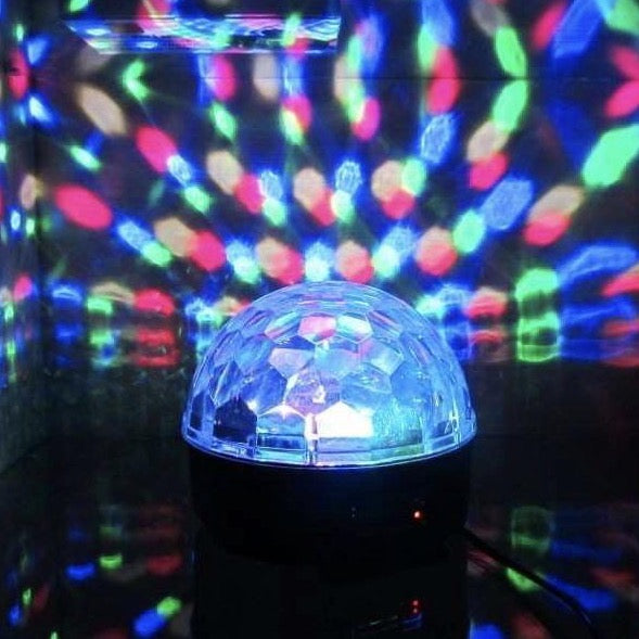 Disco Crystal Ball Projector With Speaker - With Power