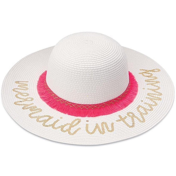 Mud Pie Sequin Mermaid Hat - White