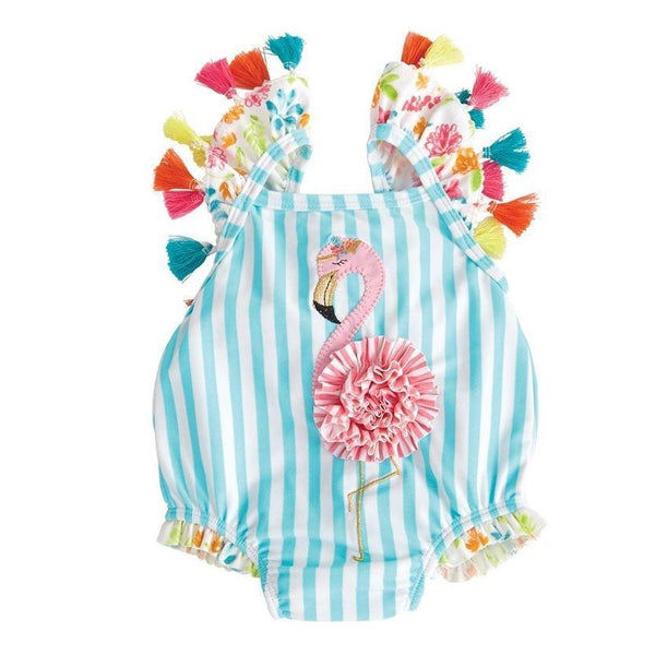 Mud Pie Flamingo Tassel Swimsuit (9-12M)