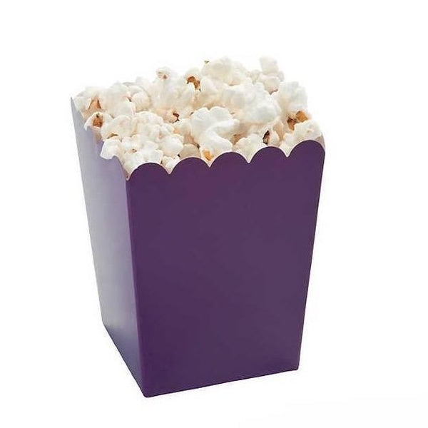 Mini Popcorn Boxes - Plum - 24 Pack
