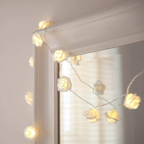 20 Warm White Led Rose Fairy Lights