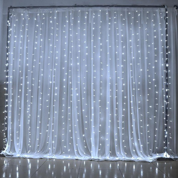 3Mx3M 300 Cool White Led String Curtain Light
