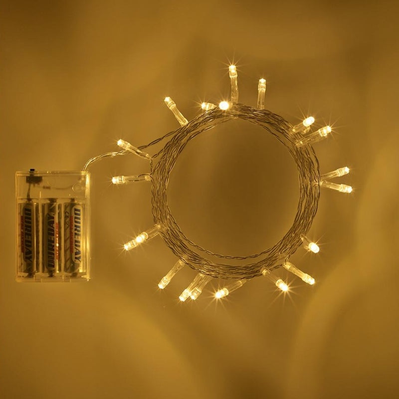 50 Warm White Led White Battery Operated Fairy Lights
