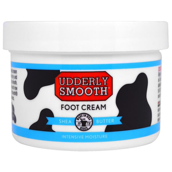 Udderly Smooth - Foot Cream, Shea Butter, 8 oz (227 g)