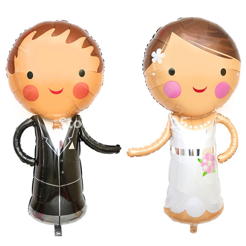 Bride & Groom Foil Balloon