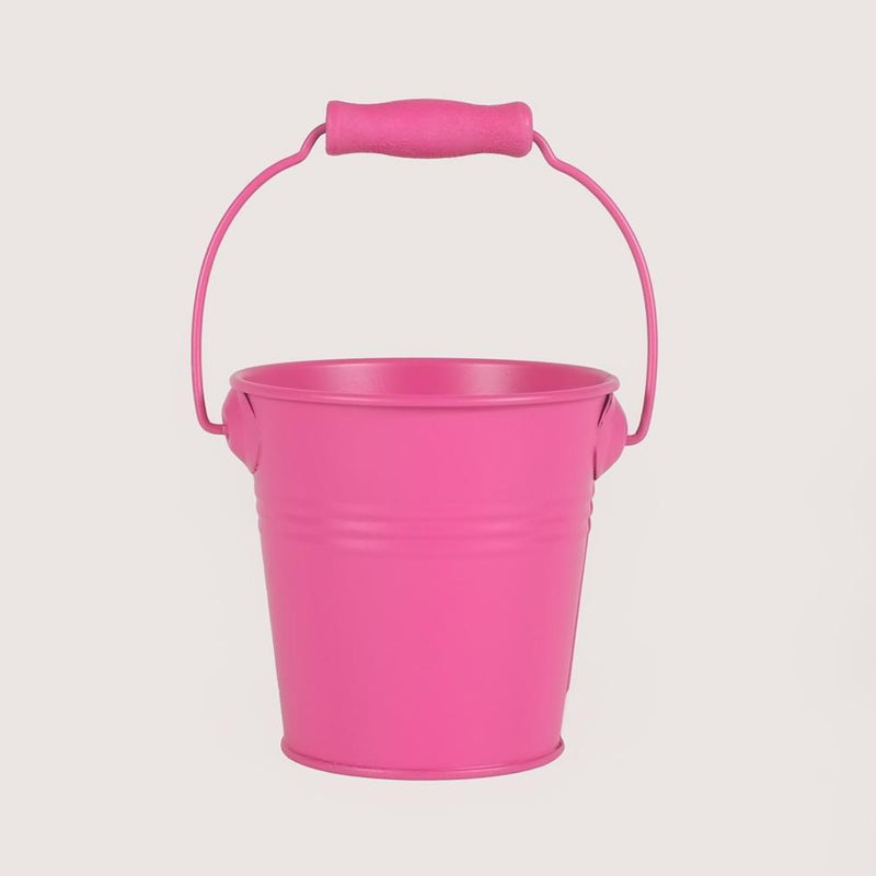 Metal Favors Bucket - Fuschia - Pack Of 4
