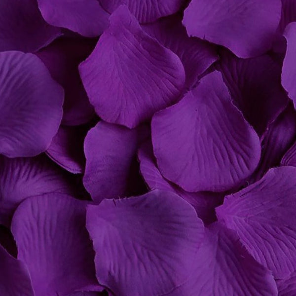 Purple Silk Rose Petals - 1000 Petals
