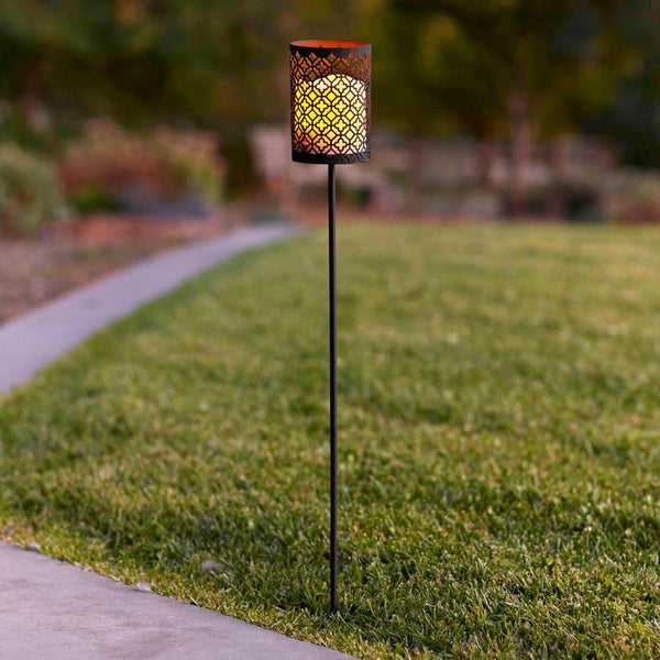 Casablanca Battery Candle Stake Lantern