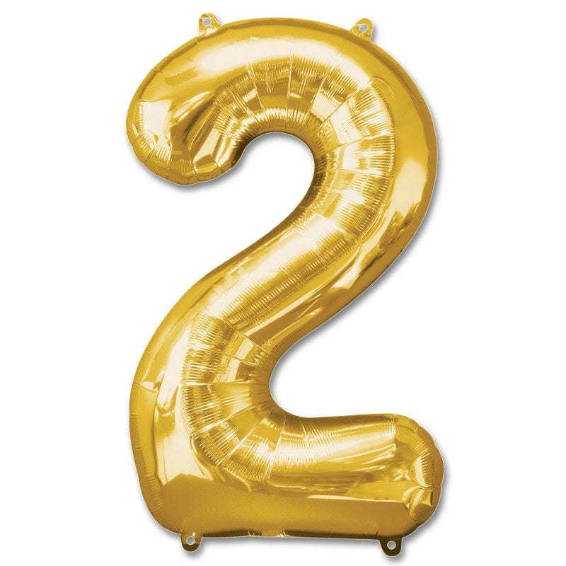 2 Number Giant Gold Balloon â 30 Inch