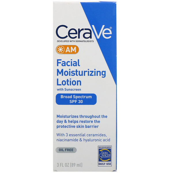 CeraVe - AM Facial Moisturizing Lotion with Sunscreen, SPF 30, 3 fl oz (89 ml)