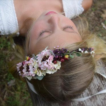 Climbing Roses & Berries Flower Crown #01
