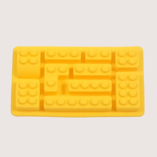 Silicone Rectangular Yellow Bricks Mould Tray