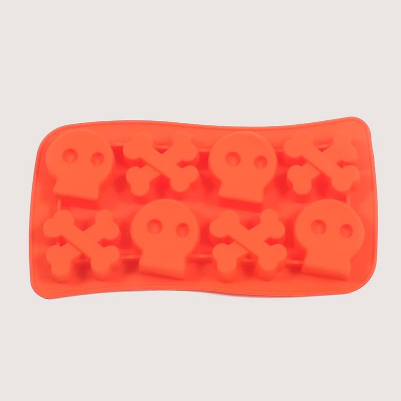 Silicone Orange Skulls Mould Tray
