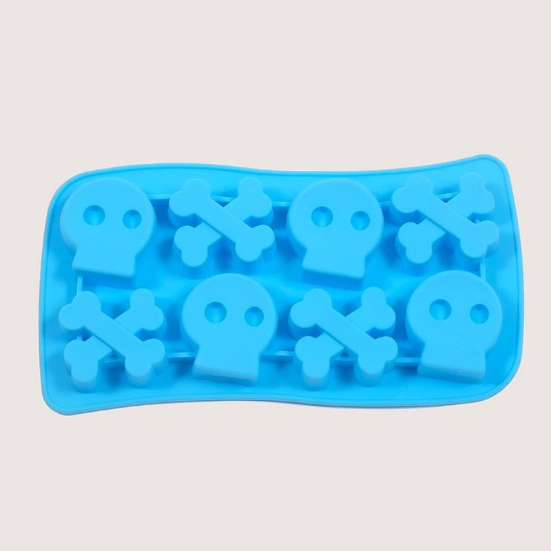 Silicone Blue Skulls Mould Tray
