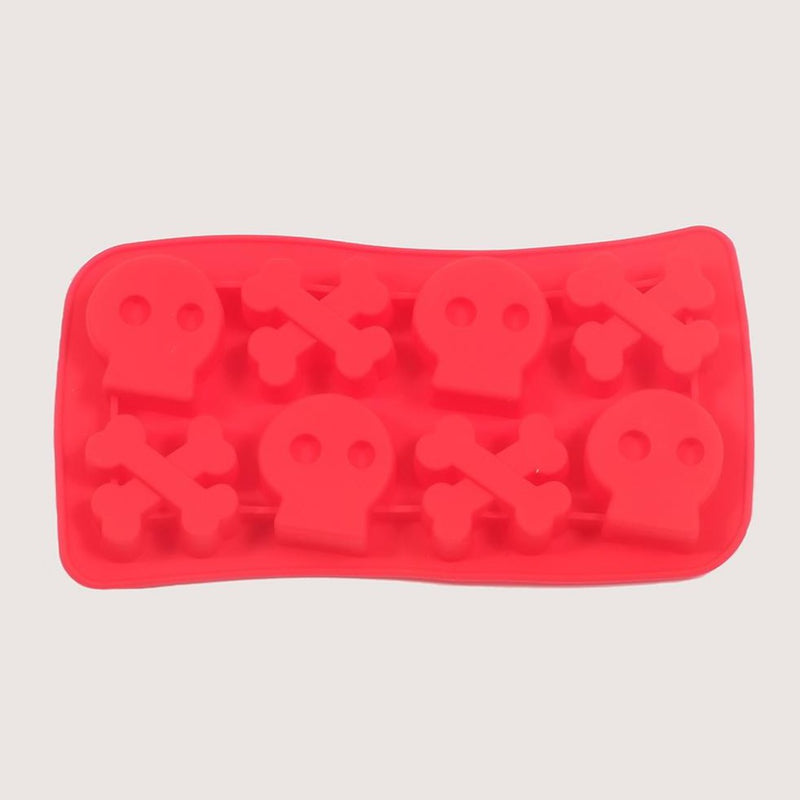 Silicone Red Skulls Mould Tray