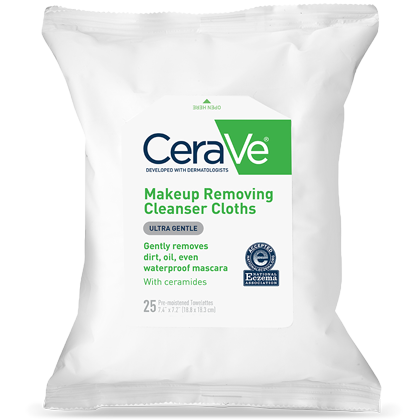 CeraVe - Makeup Removing Cleanser Cloths, Ultra Gentle, 25 Pre-Moistened Towelettes