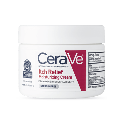 CeraVe - Itch Relief Moisturizing Cream, 12 oz (340 g)