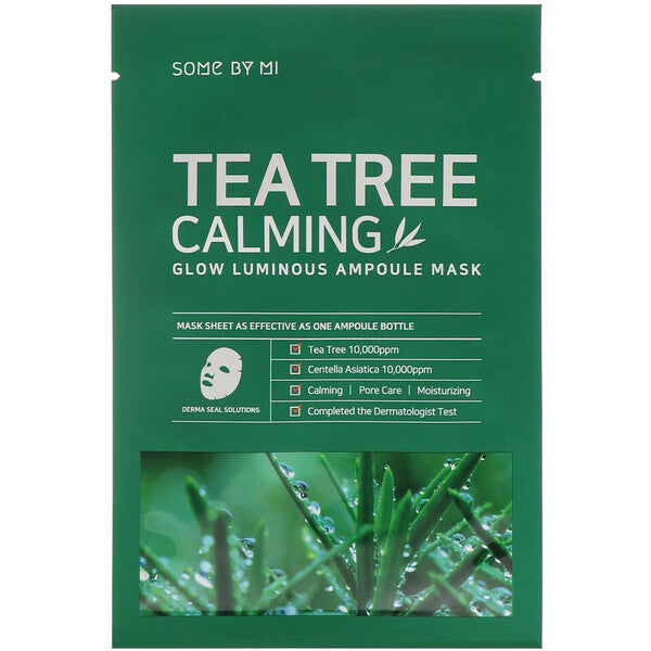 Some By Mi, Glow Luminous Ampoule Mask, Tea Tree Calming, 10 Sheets, 25 G Each