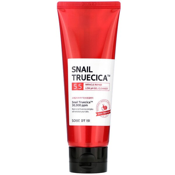 Some By Mi, Snail Truecica, Miracle Repair Low Ph Gel Cleanser, 3.38 Fl Oz (100 Ml)