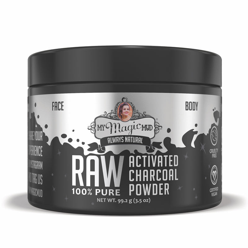 My Magic Mud - Raw 100% Pure, Activated Charcoal Powder, 3.5 oz (99.2 g)