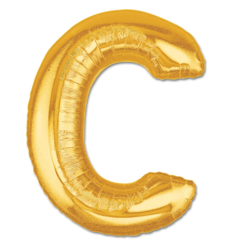 C Letter Giant Gold Balloon â 30 Inch