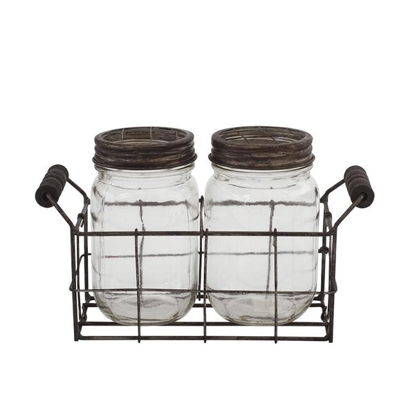 Rustic Double Mason Jar Set