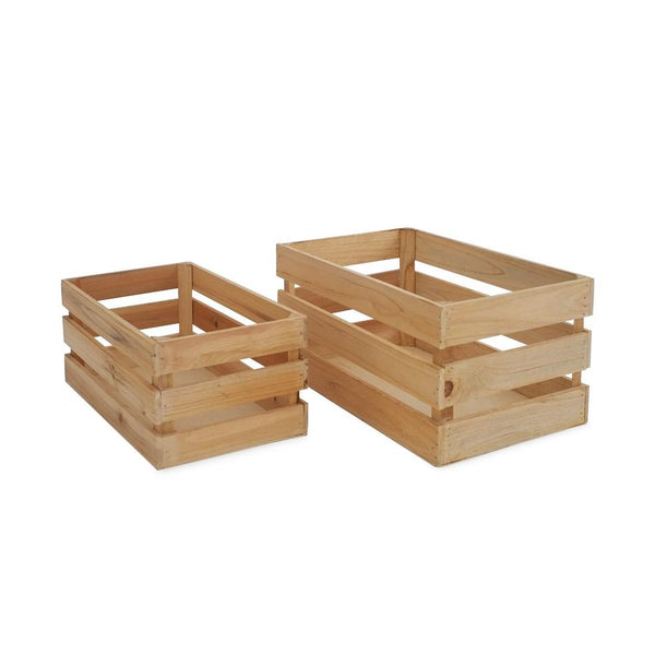 Wooden Crates - Natural -
