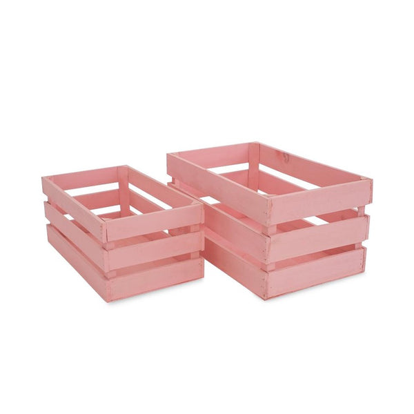 Wooden Crates - Pink -