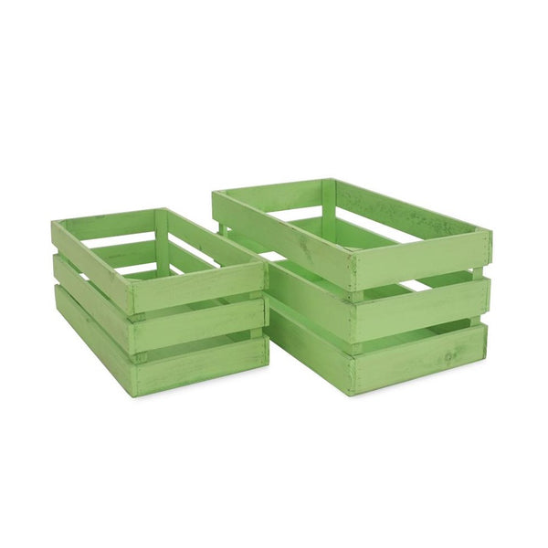 Wooden Crates - Green -