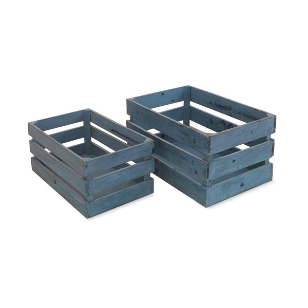 Wooden Crates - Blue -