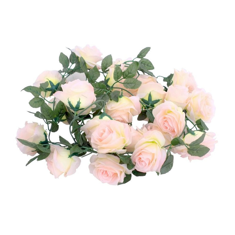 Silk Rose Flower Garland (Peach)