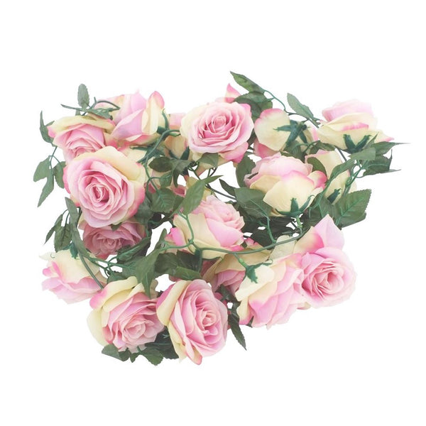 Silk Rose Flower Garland (Pink)