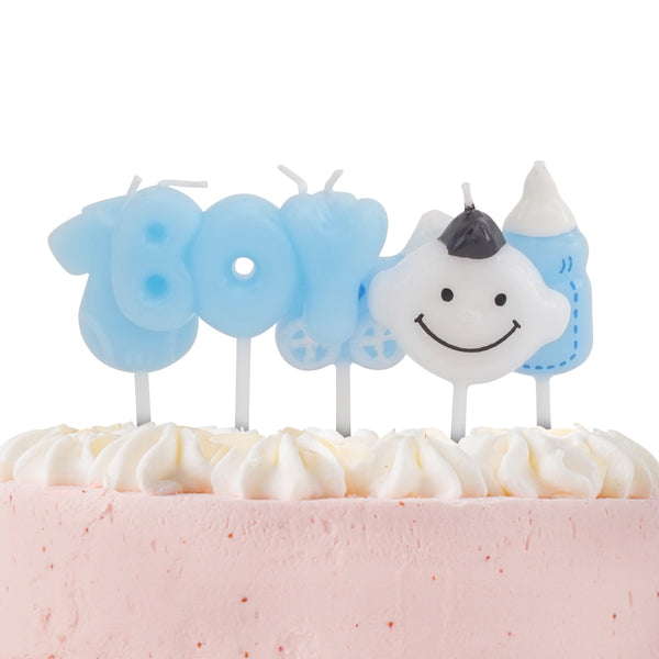 Baby Boy Candles